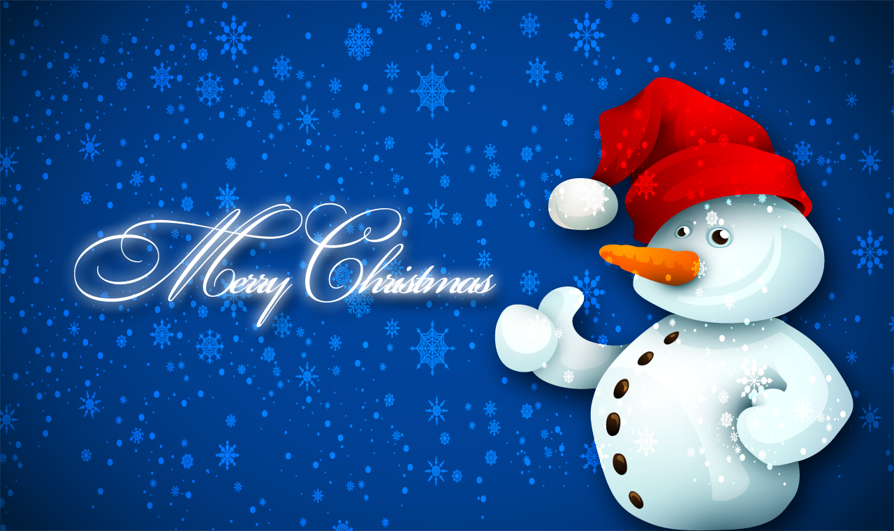 Merry christmas snowman wallpaper by andycoco on deviantart