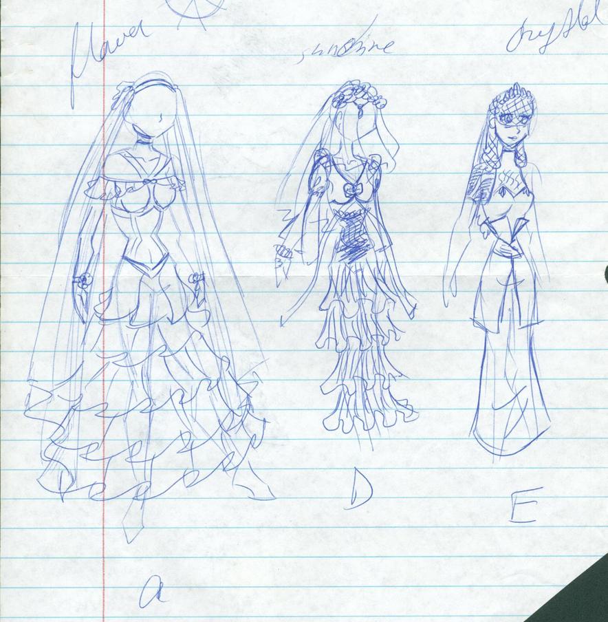 SKETCH girls wedding dresses by SassySunshineGal