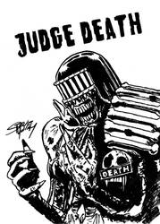 Judge Death - Brian Bolland redraw by Yautja-Steve