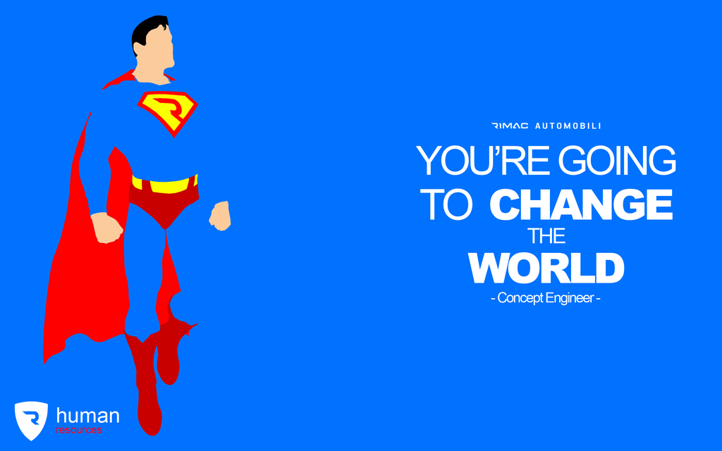 Superman - Rimac Job Application Poster by matijadananic