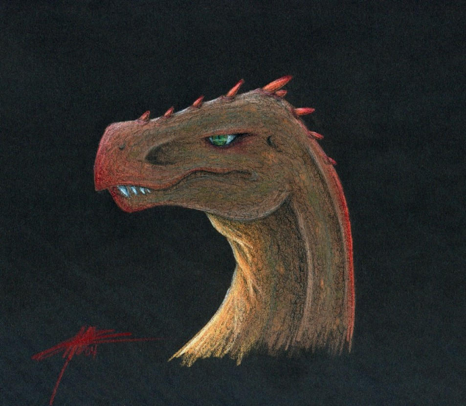Dinosauric Head by Draconic Goth