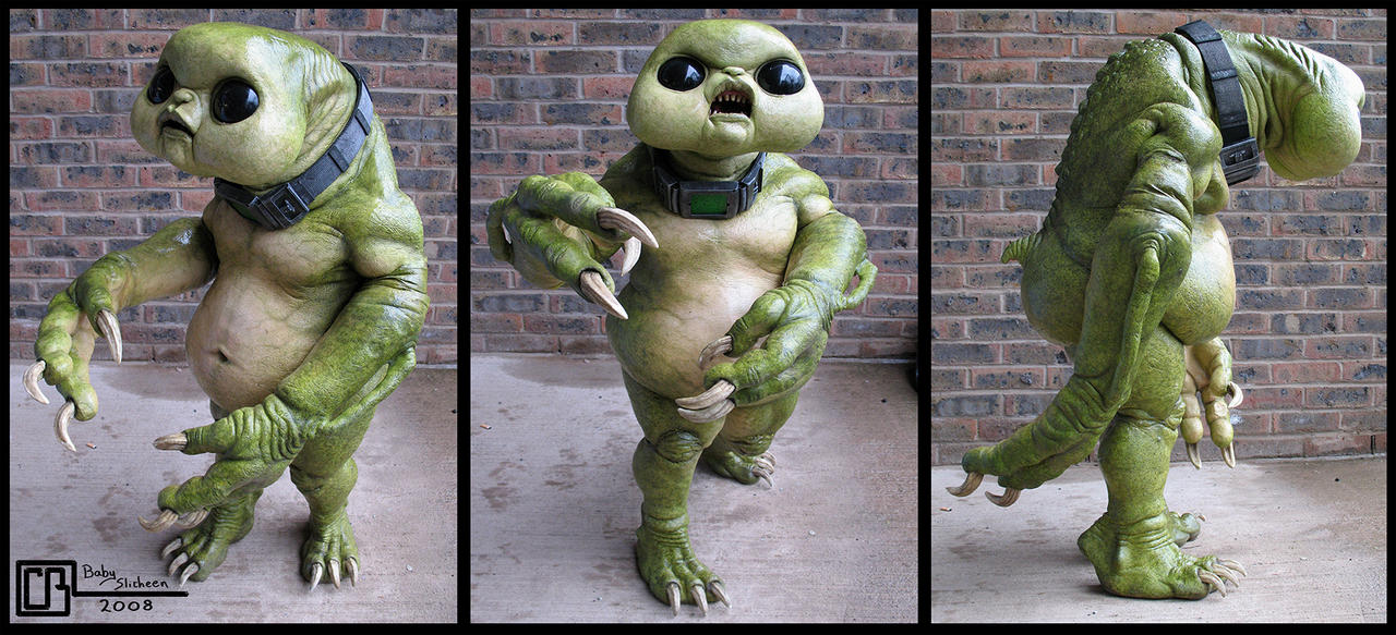 Baby Slitheen Creature Costume by CB-FX