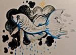 [INKTOBER DAY 4] Cloud + fish by KleinVeer
