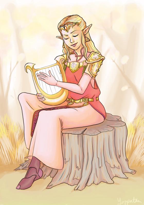 ZE: The Harpist by Yappatan-art