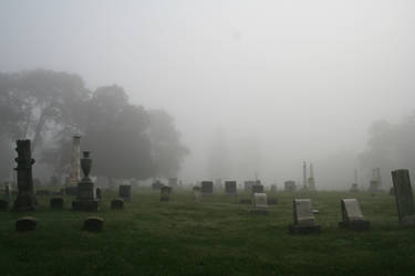 Stock Photo - Foggy Cemetery 1 by dead-stock