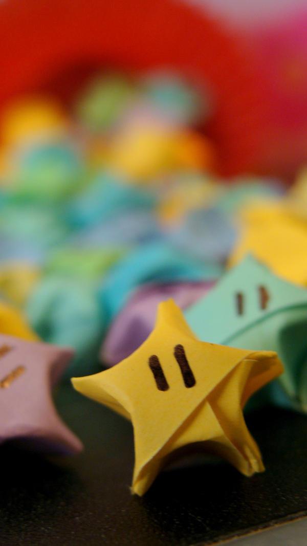 Origami Mario Stars By Yoshixpochi On Deviantart