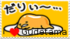 I Love Gudetama Stamp by Tomboyhns