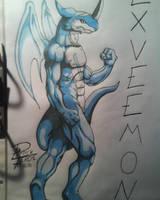 Exveemon by Weregarurumon87