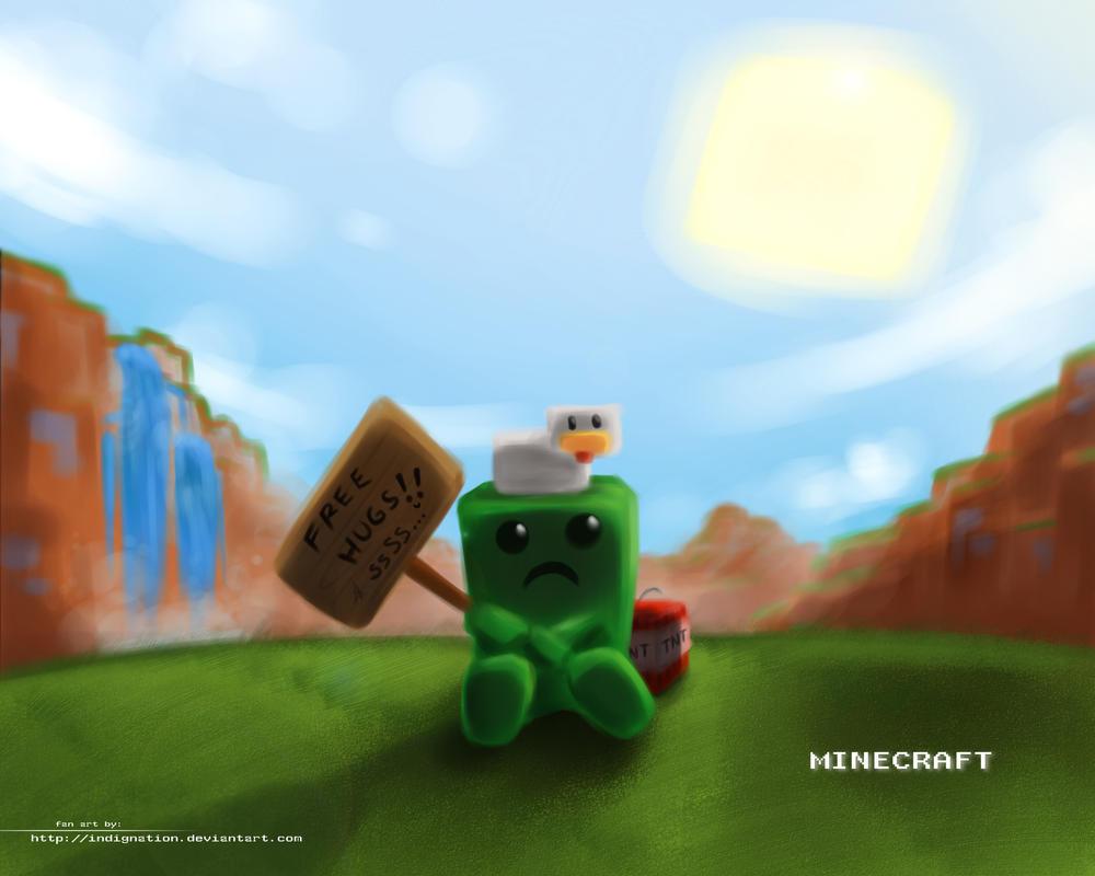Minecraft Free Hugs by Indignation