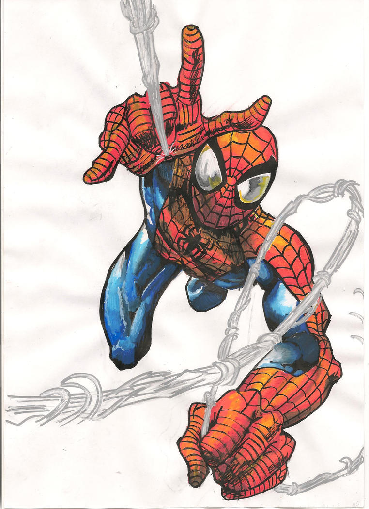 Death of Ultimate Spider-Man issue cover Draw by onchonchHow To Draw Ultimate Spider Man
