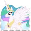 Princess Celestia Boarder-Break Stamp by TheNarffy