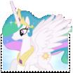 Princess Celestia Boarder-Break Stamp by TheNarffy
