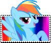 Rainbow Dash Boarder-Breaker Stamp by TheNarffy