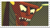 Robot Devil Stamp by TheNarffy