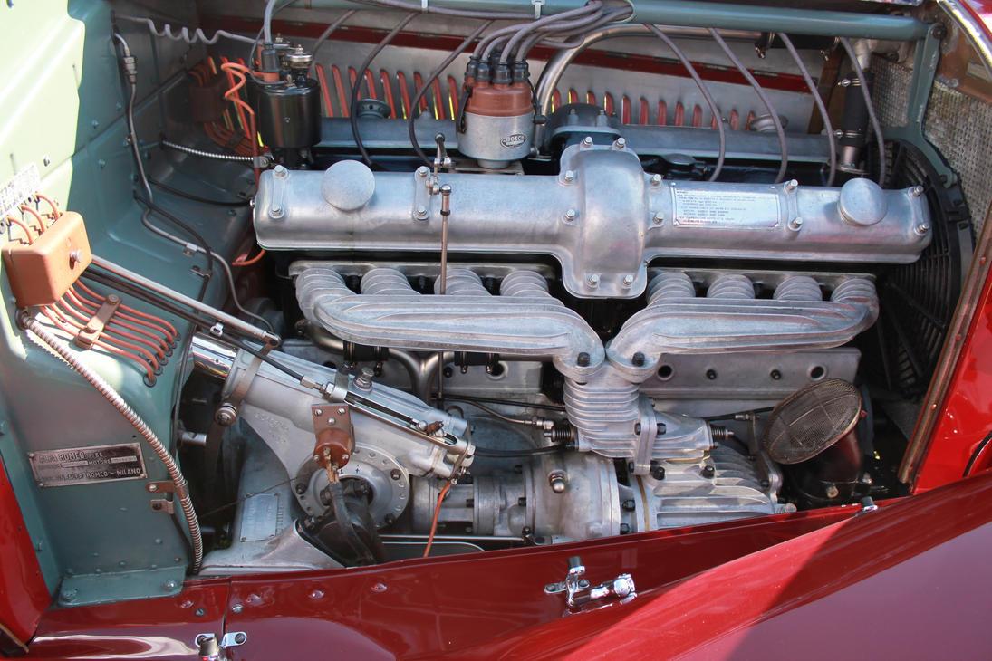 Alfa Romeo 8C2300 engine by SlimerJSpud