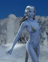 Ice Queen - portrait by SlimerJSpud