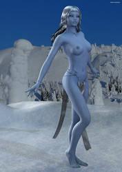 Ice Queen - Xlarge topless by SlimerJSpud