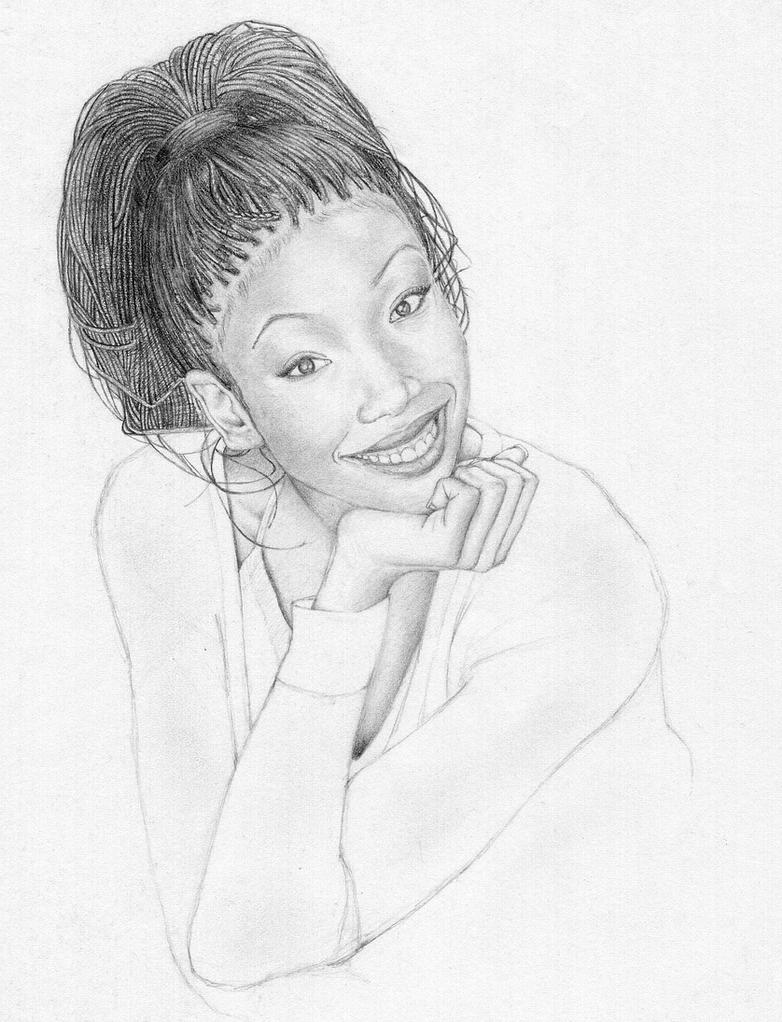 Brandy Norwood Sketch by RamonGuthrie