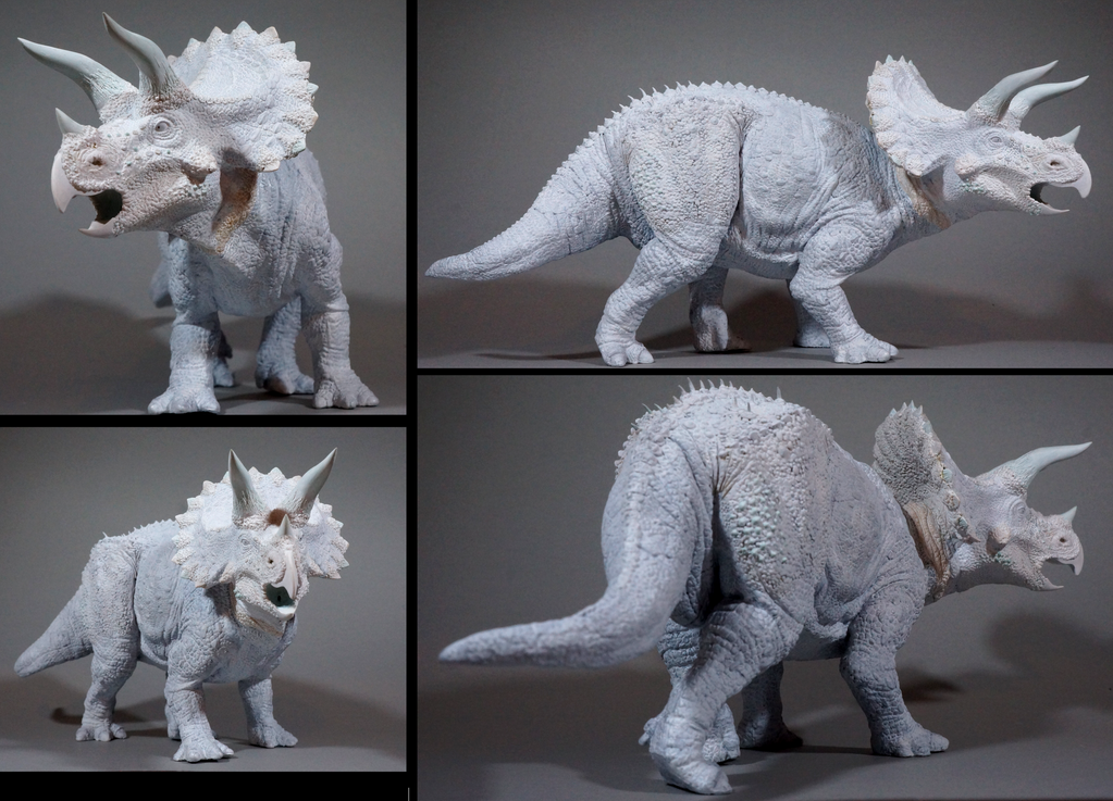 Custom - Papo Triceratops resculpt and repaint by brolyss4