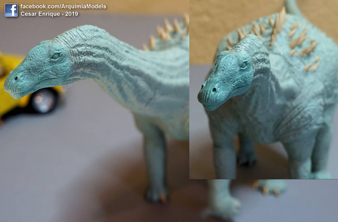 Ampelosaurus face - sculpture 1/35 by brolyss4