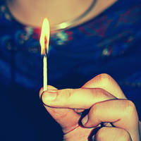life is a burning match by AataRax-ya