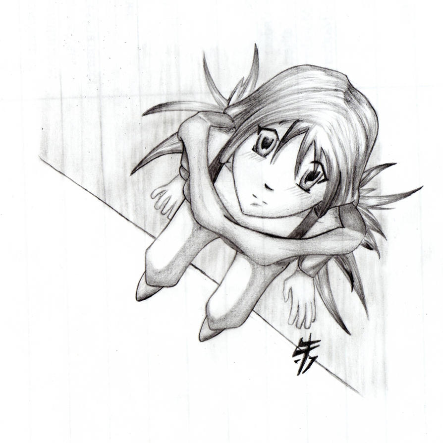 Girl Looking Up By Zumiac On DeviantArt