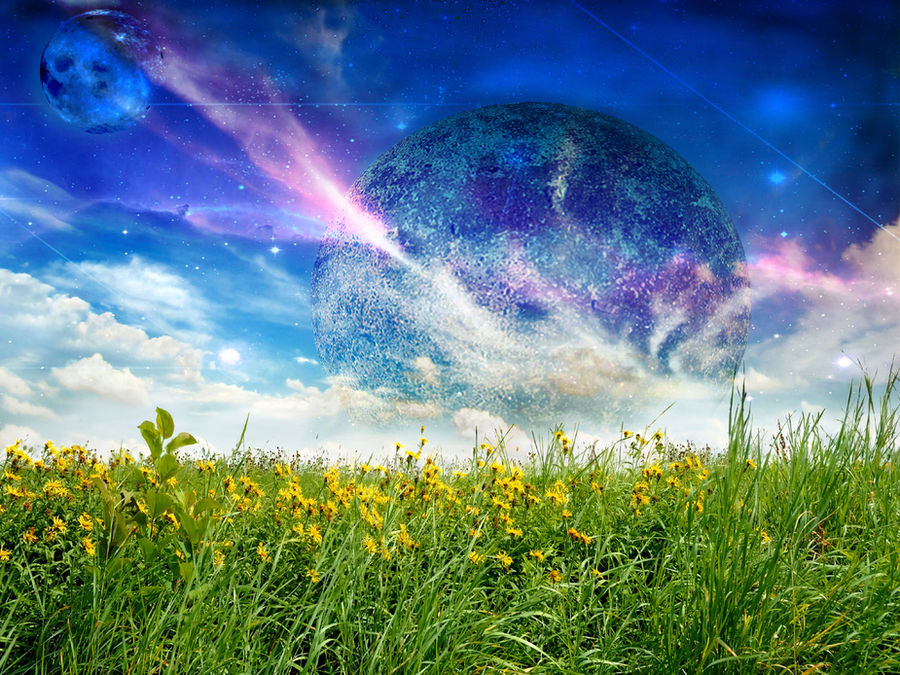 Universe From a Meadow by mind-criminal