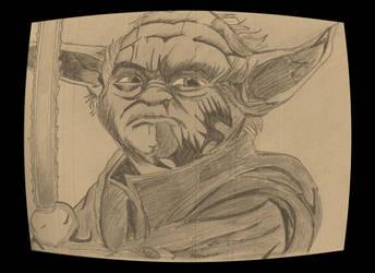 Halloween Yoda Sabre aged by JohnReynolds