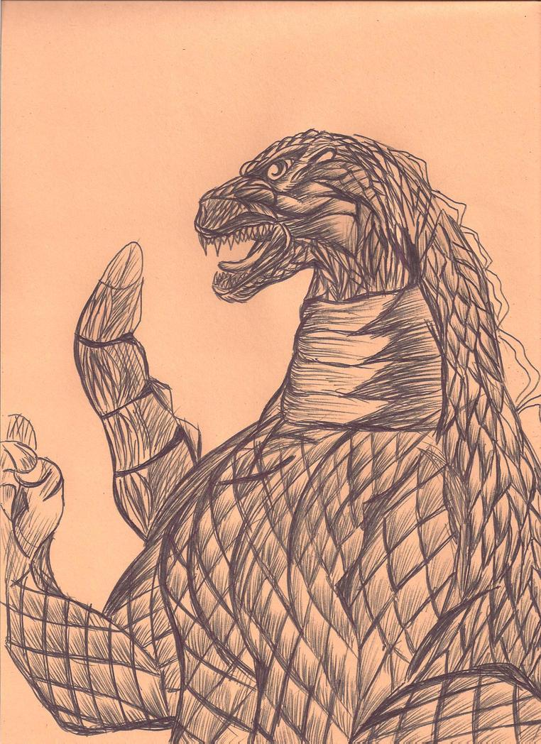 13 Days Halloween Godzilla by JohnReynolds