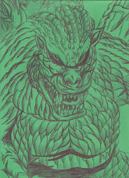13 Days Halloween Gojira by JohnReynolds