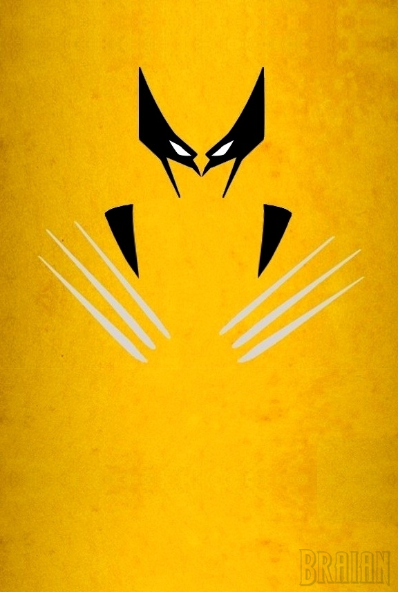 Wolverine minimalist art by braianmaster on deviantart for Minimal art hero