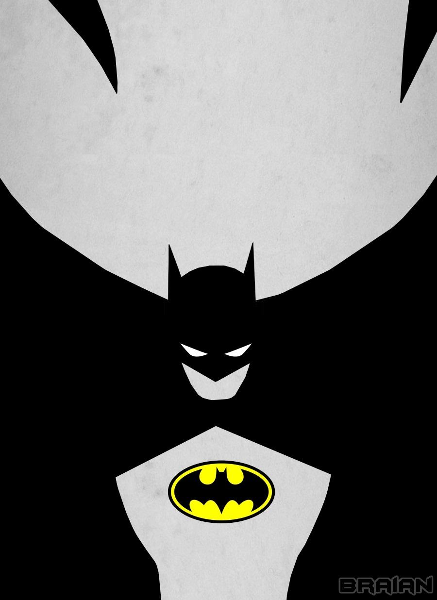 Batman minimalist art by braianmaster on deviantart for Minimal artiste
