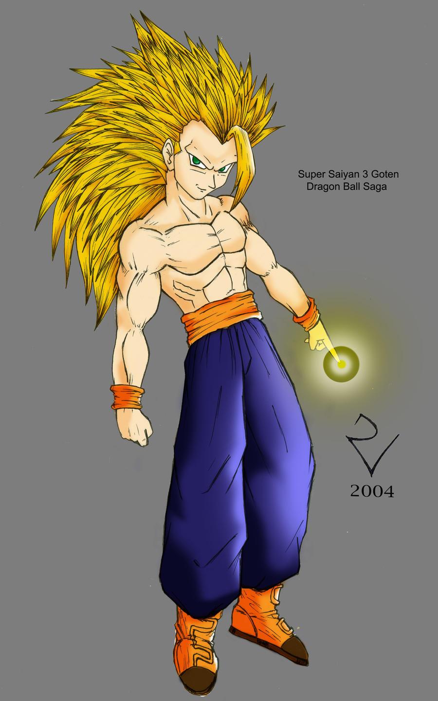 Super saiyan 3 goten by kaninraider on deviantart - Sangohan super saiyan 3 ...