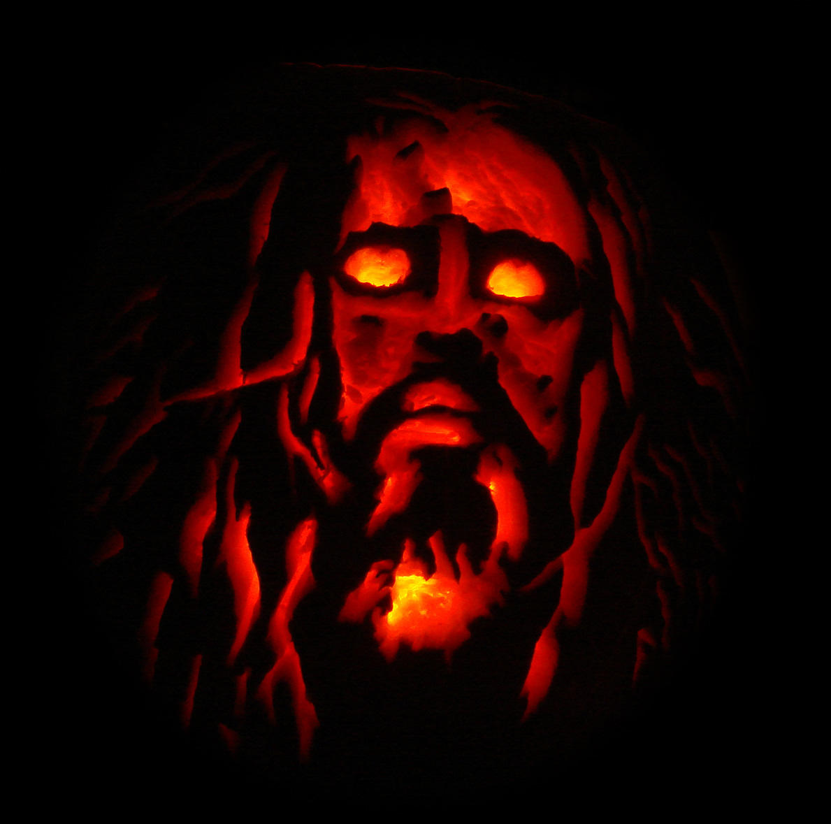 Rob Zombie Pumpkin by RenegadeClock