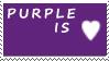 DA Stamps: I love purple by eleoyasha
