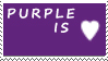 DA Stamps: I love purple by eleoyasha