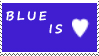 DA Stamps: blue is love by eleoyasha