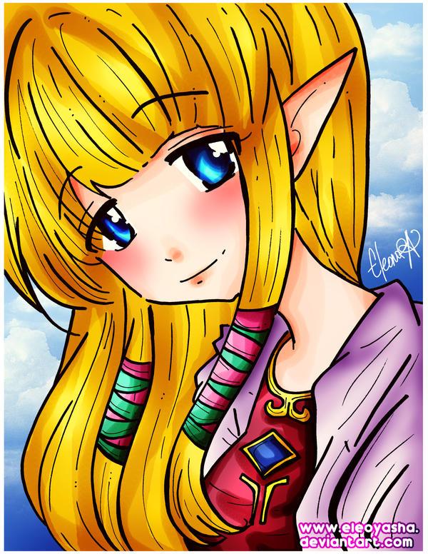 Skyward Sword Zelda by eleoyasha