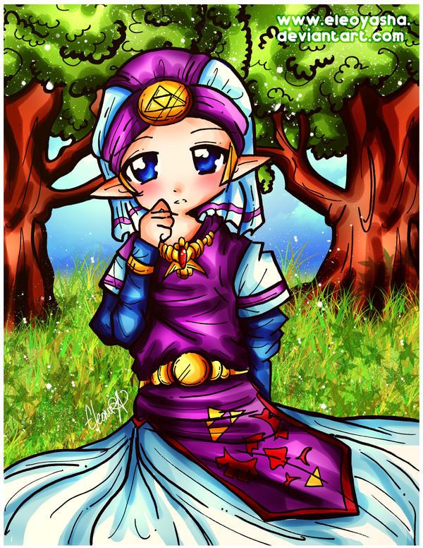 Little Zelda at the garden. by eleoyasha