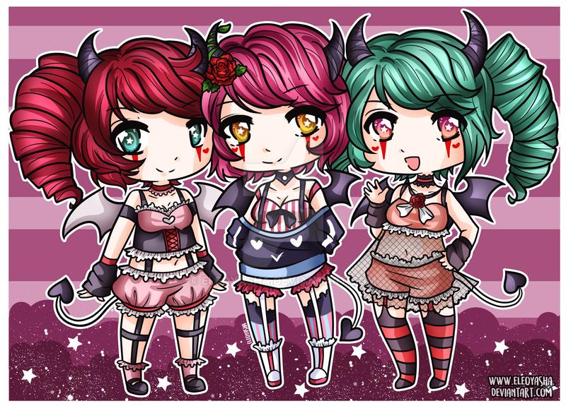 Demon Sisters by eleoyasha