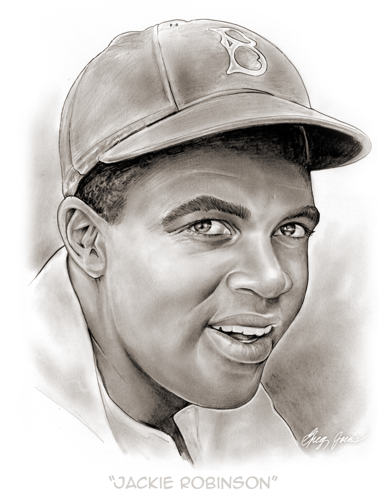 Jackie Robinson by gregchapin