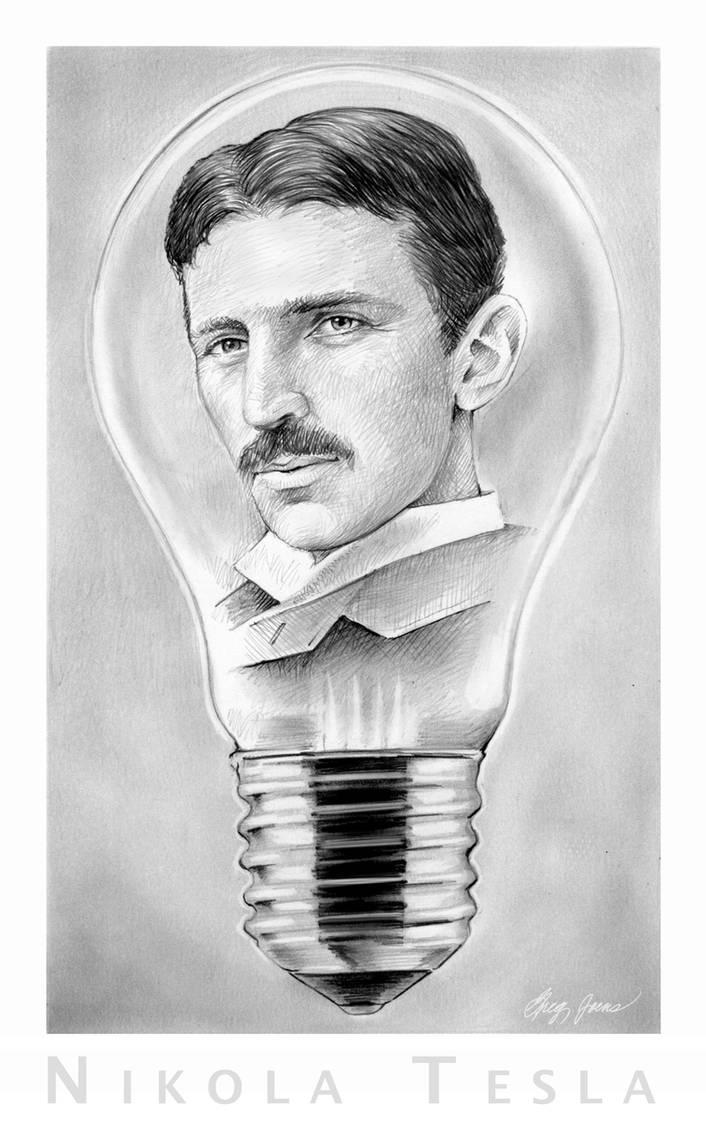 Nikola Tesla By Gregchapin On Deviantart