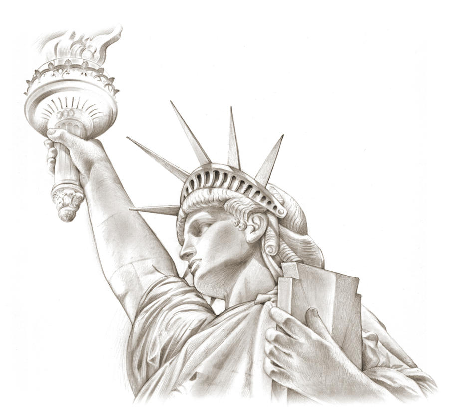 Lady Liberty by gregchapin on DeviantArt Statue Of Liberty Drawing Face