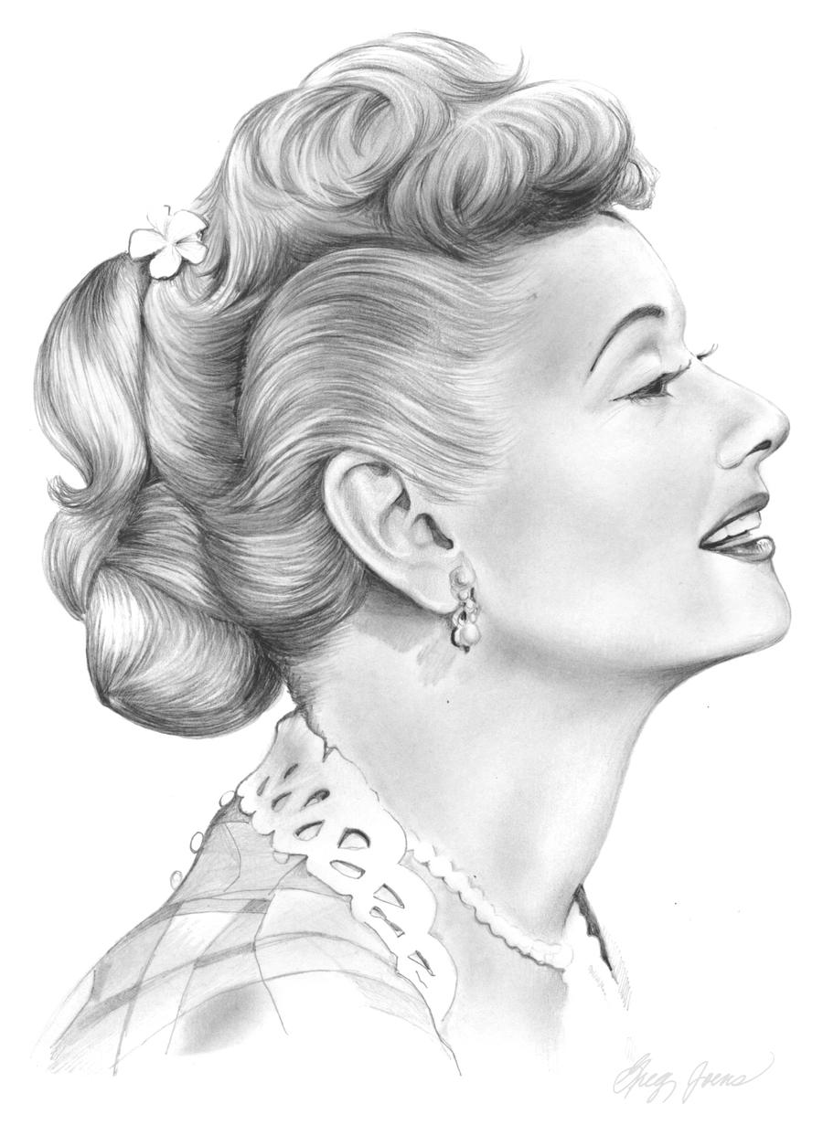 lucille ball coloring pages | Lucille Ball by gregchapin on DeviantArt