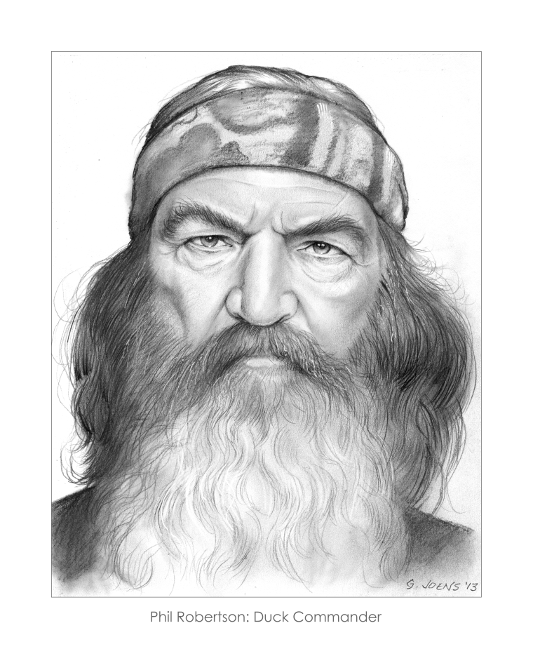 phil robertson of duck dynasty by gregchapin on deviantart