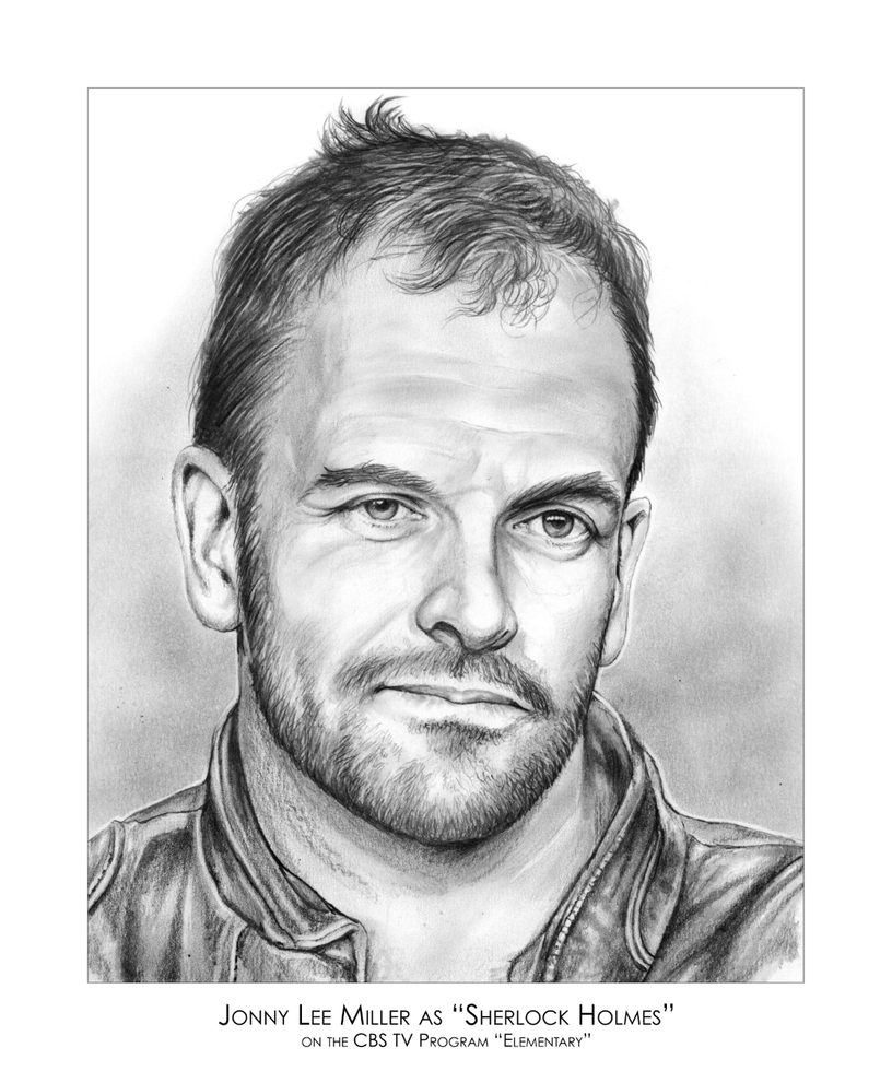 Johnny Lee Miller as Sherlock Holmes by gregchapin