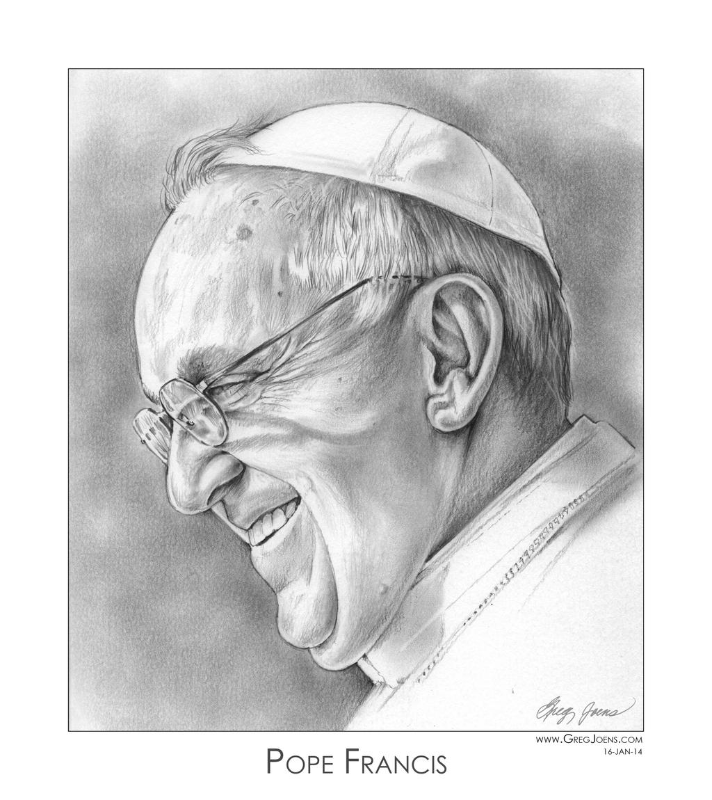 Pope Francis by gregchapin