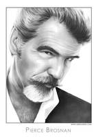 Pierce Brosnan by gregchapin