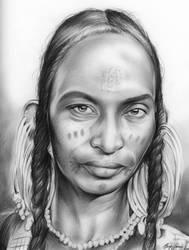 Tribal Woman by gregchapin