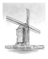 Windmill at Valmy by gregchapin
